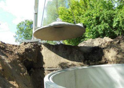 Bau einer Regenwassersammelgrube
